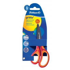 Nožnice Pelikan Griffix pre ľavákov v blistri červené
