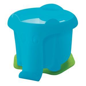 Plastový pohárik Pelikan na vodové farby v tvare slona, modrý