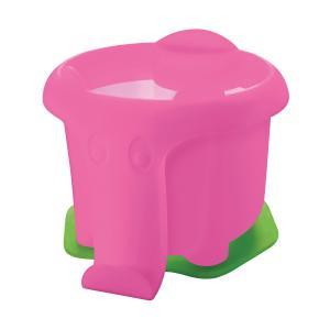 Plastový pohárik Pelikan na vodové farby v tvare slona, ružový
