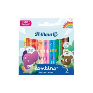Sada popisovačov Pelikan Combino 411 9 farieb