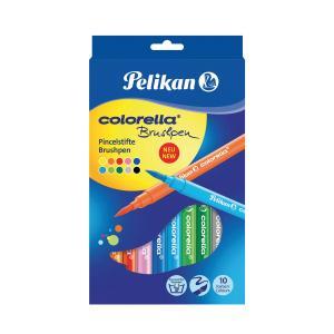 Sada popisovačov Pelikan Colorella štetcové 10,BL