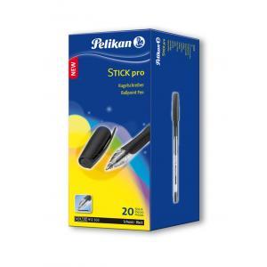 Guľôčkové pero Pelikan Stick Pro K91 20 ks v bal. čierne