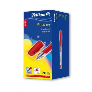 Guľôčkové pero Pelikan Stick Pro K91 20 ks v bal. červené