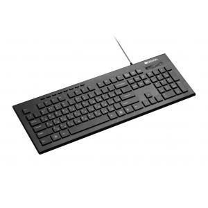 Multimediálna klávesnica Canyon CNS-HKB2-CS, USB, 105 klávesov, biele bočné podsvietenie, štíhla, čierna, SK/CZ