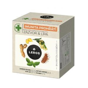 Čaj LEROS Natur Imunita bylinný lipa & zázvor 10x2g