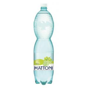 Minerálna voda MATTONI ochutená - biele hrozno sýtená 6x1,5l