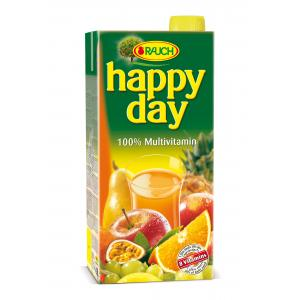 Džús HAPPY DAY Multivitamín 100% 2l