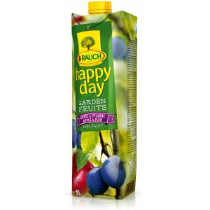 Džús HAPPY DAY Garden Fruits Jablko-slivka 100% 1L