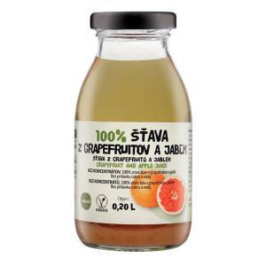 ZDRAVO šťava 100% grapefruitová-jablková 10x0,2l NEVRATNÉ SKLO