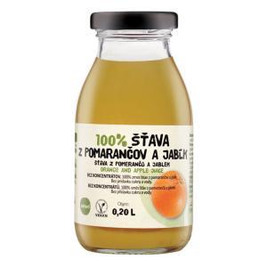 ZDRAVO šťava 100% pomarančovo-jablková 10x0,2l NEVRATNÉ SKLO