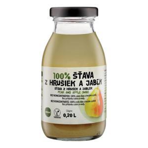 ZDRAVO šťava 100% hruškovo-jablková 10x0,2l NEVRATNÉ SKLO