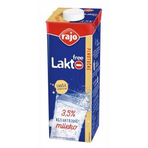 Trvanlivé bezlaktózové mlieko Rajo plnotučné 1l