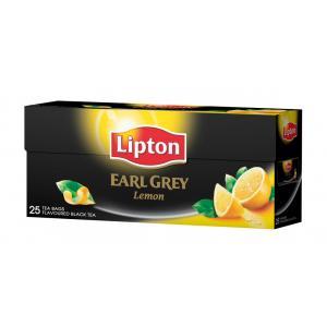 Čaj Lipton čierny Earl Grey Lemon 50g