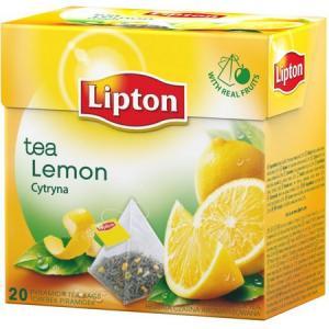 Čaj Lipton čierny Citrón pyramídy 34g
