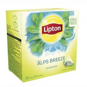 Čaj Lipton bylinný Alps Breeze pyramídy 22g