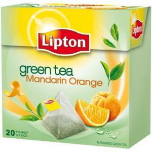 Čaj Lipton zelený Mandarin Orange pyramídy 36g
