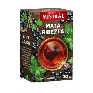 Čaj MISTRAL bylinný Mäta, citrónová tráva a čierna ríbezľa 30g