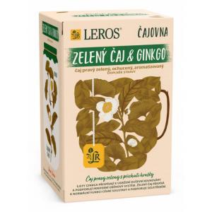 Čaj LEROS Čajovňa zelený čaj & ginkgo 20x2 g