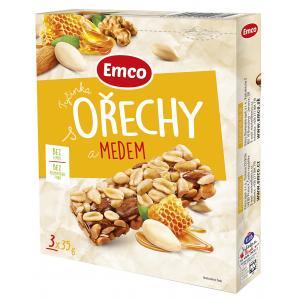 Tyčinka Emco s  orechami a medom 3x35g