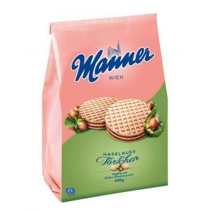 Čokoládovo-orieškové tortičky Manner 400g
