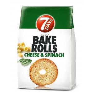 Bake Rolls 7 Days syr špenát 80g