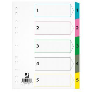 Kartónový rozraďovač Q-Connect zosilnený 1-5