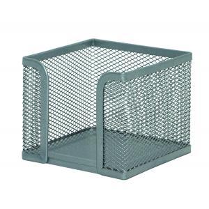 Drôtený stojan na blok kocka 95x80x95mm strieborný