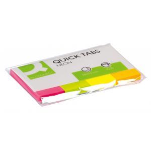 Záložky Q-CONNECT papierové 20x50mm,4x50 lístkov