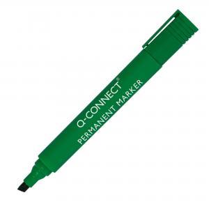 Permanentný popisovač Q-CONNECT zrezaný hrot zelený