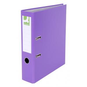 Zakladač pákový Q-connect 7,5cm fialový