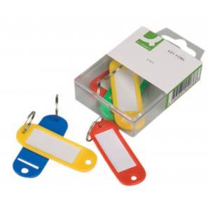 Menovky na kľúče Q-Connect mix farieb 6ks