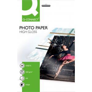 Foto papier Q-Connect vysoký lesk, 260g, 20 hárkov