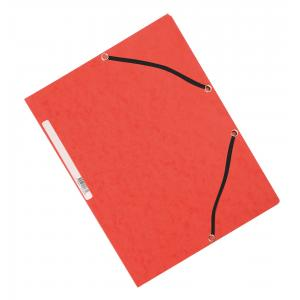 Kartónový obal hladký s gumičkou Q-Connect červený