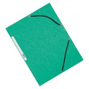 Kartónový obal hladký s gumičkou Q-Connect zelený