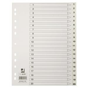 Plastový rozraďovač A4 maxi 12-dielny sivý
