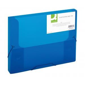 Plastový box s gumičkou Q-Connect modrý