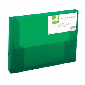 Plastový box s gumičkou Q-Connect zelený