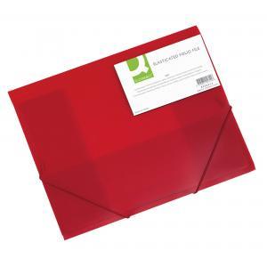 Plastový obal s gumičkou Q-Connect červený