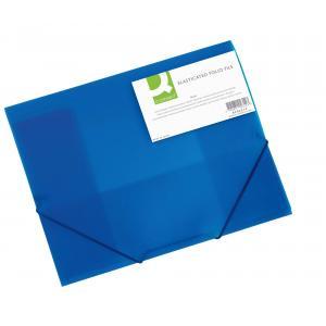 Plastový obal s gumičkou Q-Connect modrý