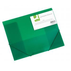 Plastový obal s gumičkou Q-Connect zelený
