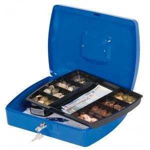 Pokladnička Q-CONNECT 325x85x235mm modrá