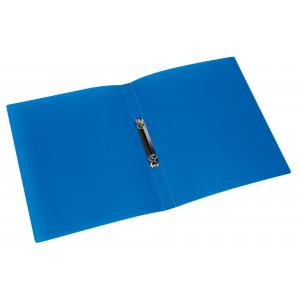 Zakladač 2-krúžkový Q-Connect celoplastový 1,6cm transparentný modrý
