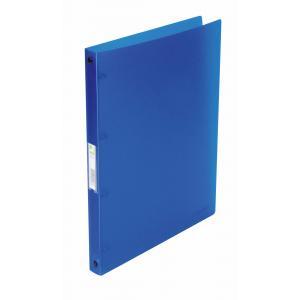 Zakladač 4-krúžkový Q-Connect celoplastový 1,6cm transparentný modrý