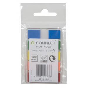 Záložky Q-CONNECT fóliové 12x43mm, 5x26 lístkov