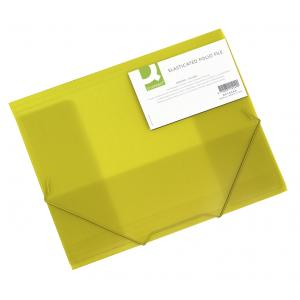 Plastový obal s gumičkou Q-Connect žltý