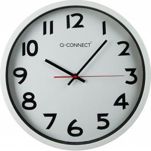 Nástenné hodiny Q-Connect strieborné