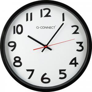 Nástenné hodiny Q-Connect čierne