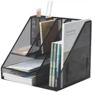 Drôtený stolový organizér s 8 priehradkami Q-Connect čierny