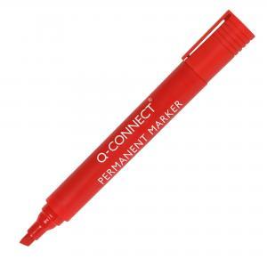 Permanentný popisovač Q-CONNECT zrezaný hrot červený