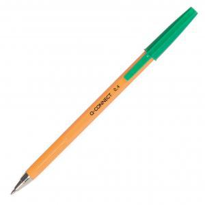 Guľôčkové pero jednorazové Q-CONNECT F zelené